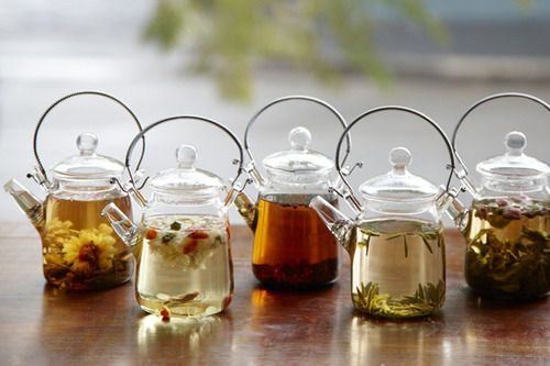 Little glass teapots