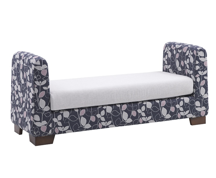 floral covered bench