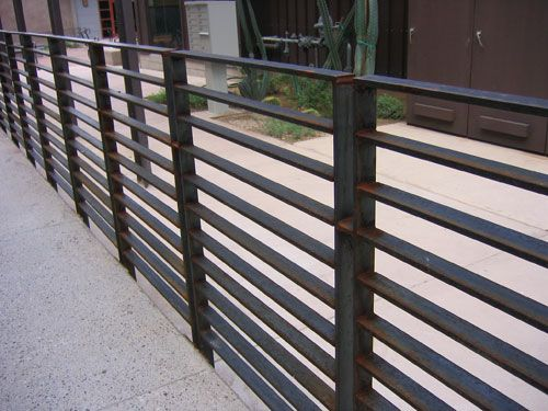 An Idea For Metal Multi Rail Fence Modern And Clean For