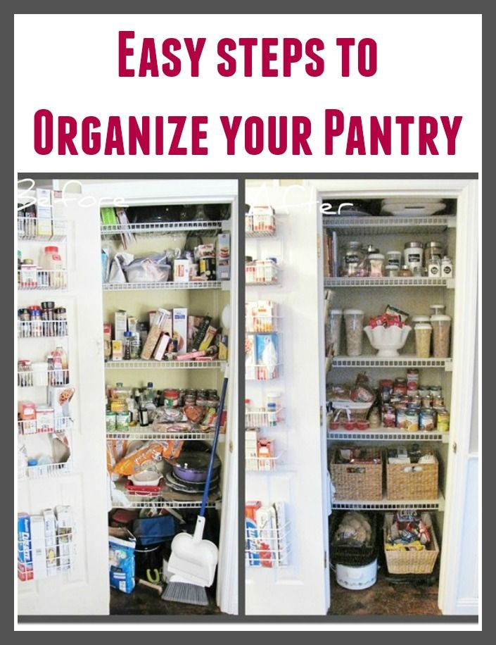 Easy Steps To Organize Your Pantry.
