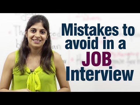 Mistakes to avoid during a job interview - Job interview tips - YouTube