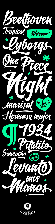 Letrista Script Typeface - Available on MyFonts by Felipe Calderón, via Behance