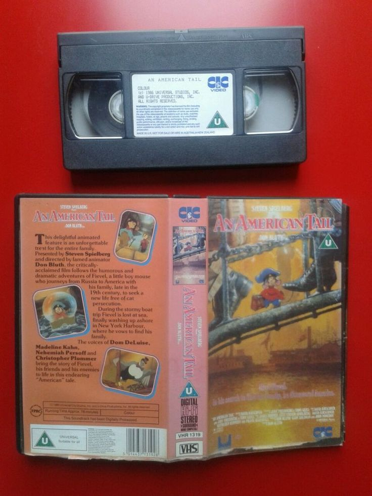 AN AMERICAN TAIL / VIDEO PAL / 1986 SPIELBERG ANIMATION DON BLUTH FILM