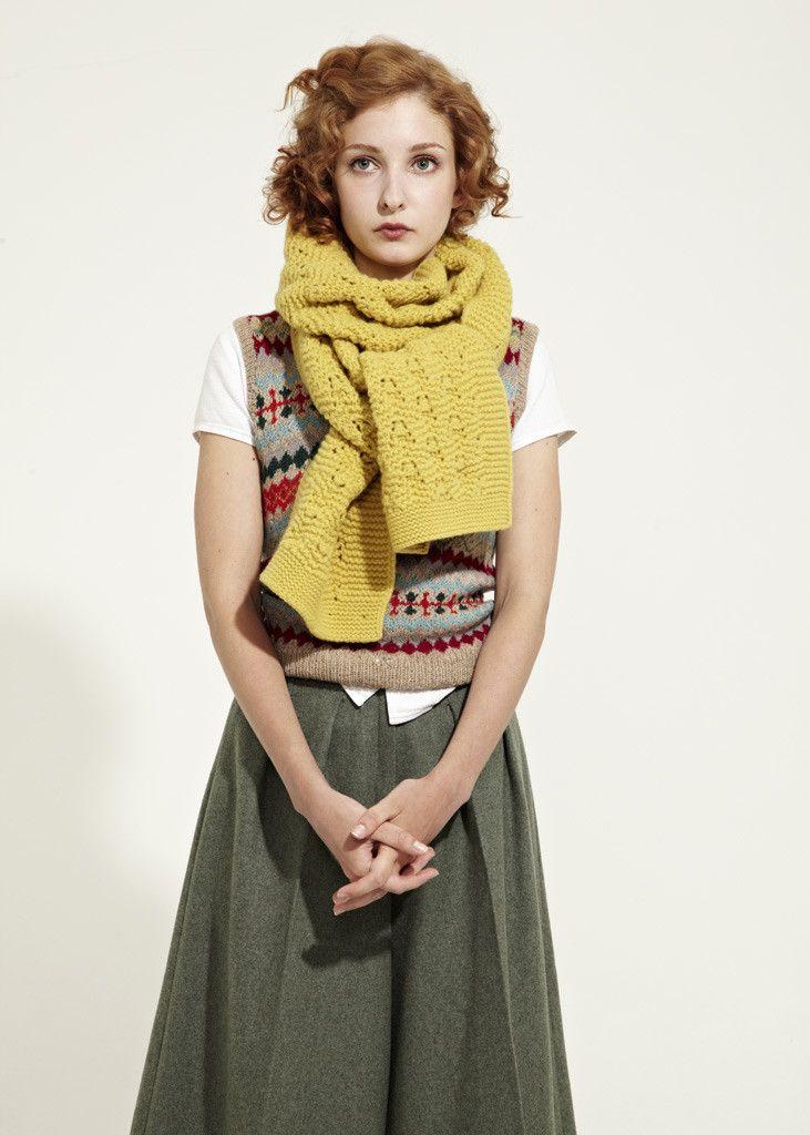 chunky lace scarf // jo gordon