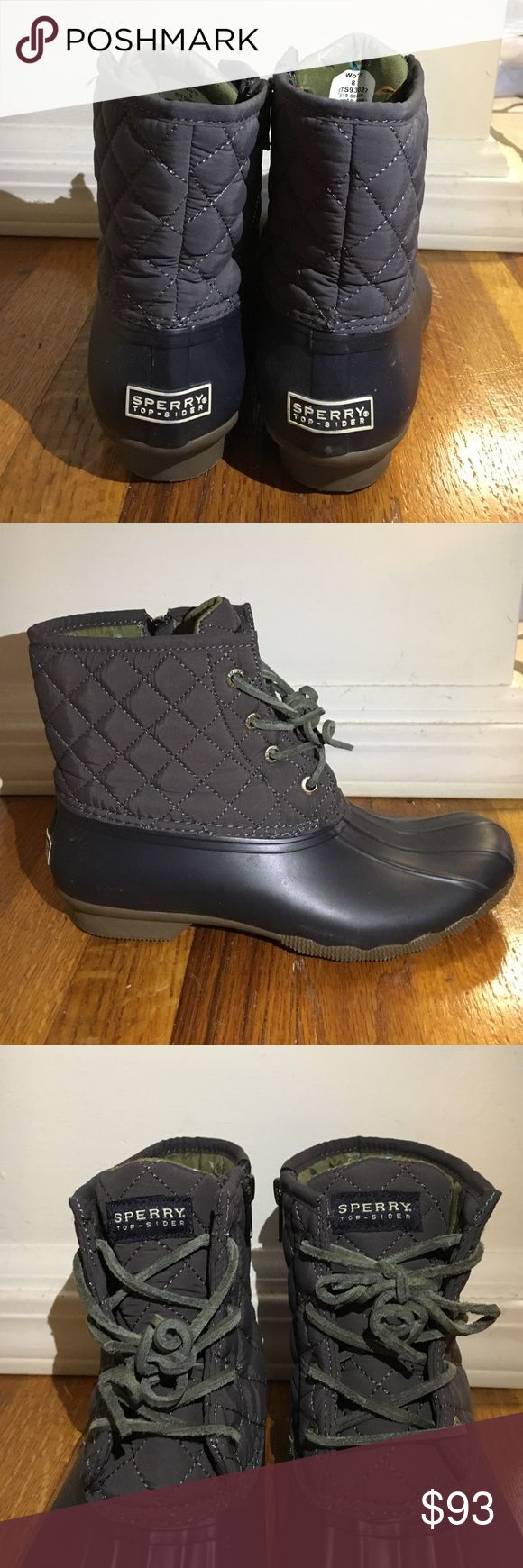 Women's Sperry Duck Boots Women's Sperry Duck Boots: Size 8, Navy blue, excellent condition. Perfect for rainy/snowy days! Sperry Top-Sider Shoes Winter & Rain Boots
