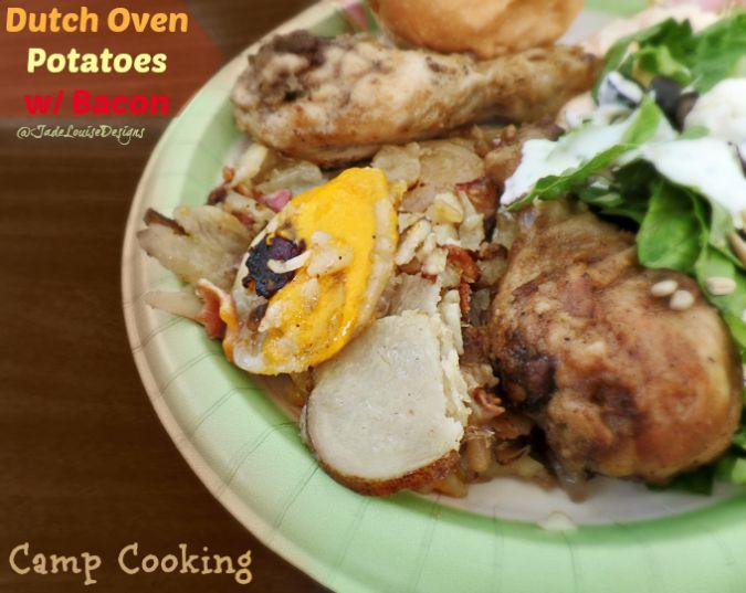 Dutch Oven Potatoes #Recipe, Camp cooking Favorite #campfood #Dutchoven