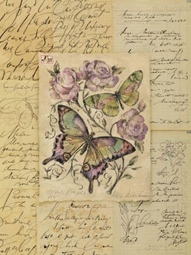 Vintage: Vlinder- Vogel- Bloem *Butterflies - Birds - Flowers