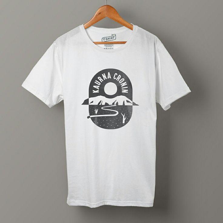 Monotone T-shirt Print Design for folk artist Kaurna Cronin