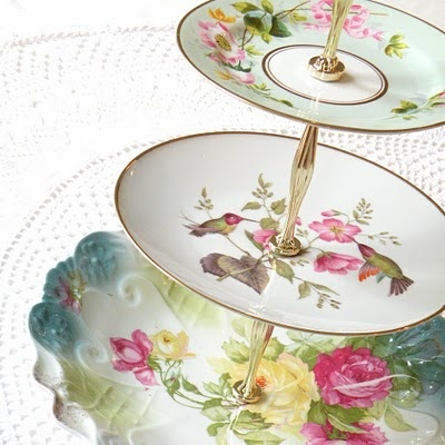 Perfect for any event from a chic dinner party to a grandiose wedding ... garden or tea parties. Also great to have for Easter. Soon available at www.vintagedishrental.com