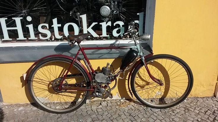 1962er Mifa Mod.101 28er Tourenrad mit Dwigatel Leningrad D4 Hilfsmotor