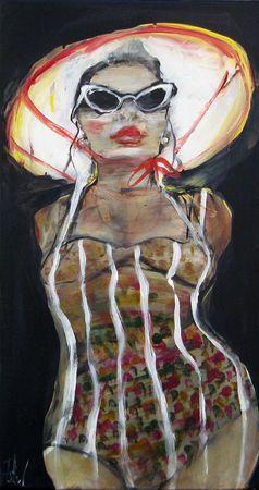 Esther Erlich  Shades 2 - 2013  Acrylic on canvas  56 x 31 cm