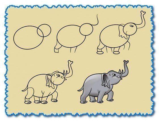 die besten 25 einfache elefant zeichnung ideen auf pinterest einfache tierzeichnungen. Black Bedroom Furniture Sets. Home Design Ideas