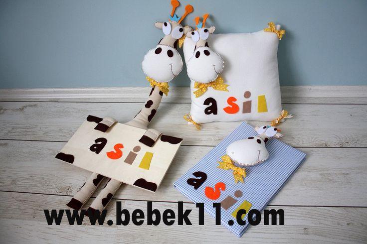 Bebek Hediye Setleri Zürafa 3lü set