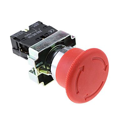 Emergency Red Sign Push Stop Button (Actuator Switch 660 Volts 10 Amp) – EUR € 9.19