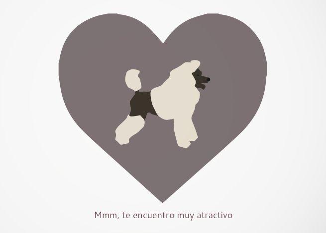 Tarjeta Te encuentro muy atractivo I find you very atractive card