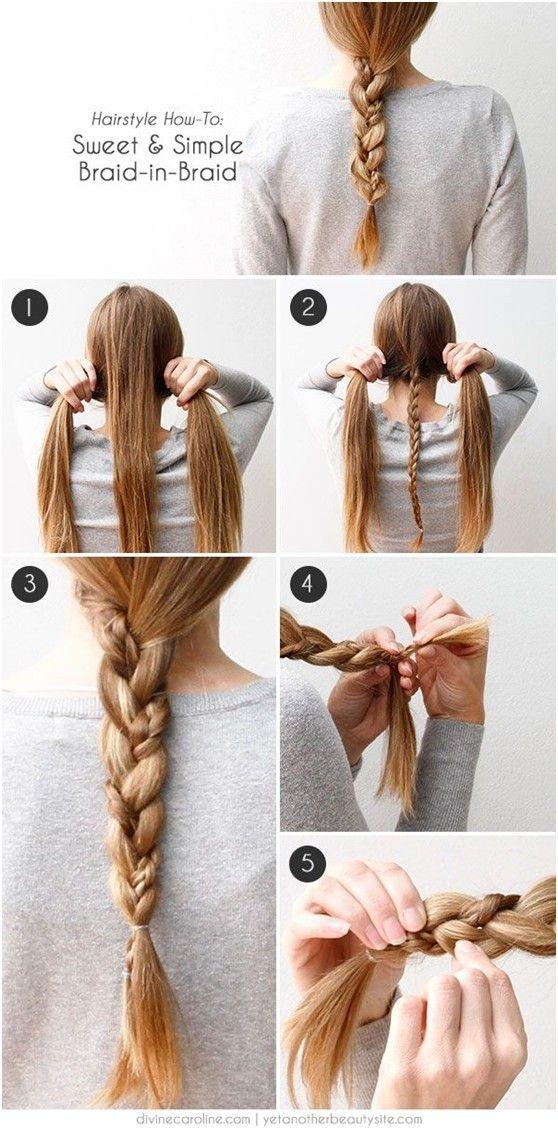 Braided Hairstyle How To: Sweet Simple Braid in Braid