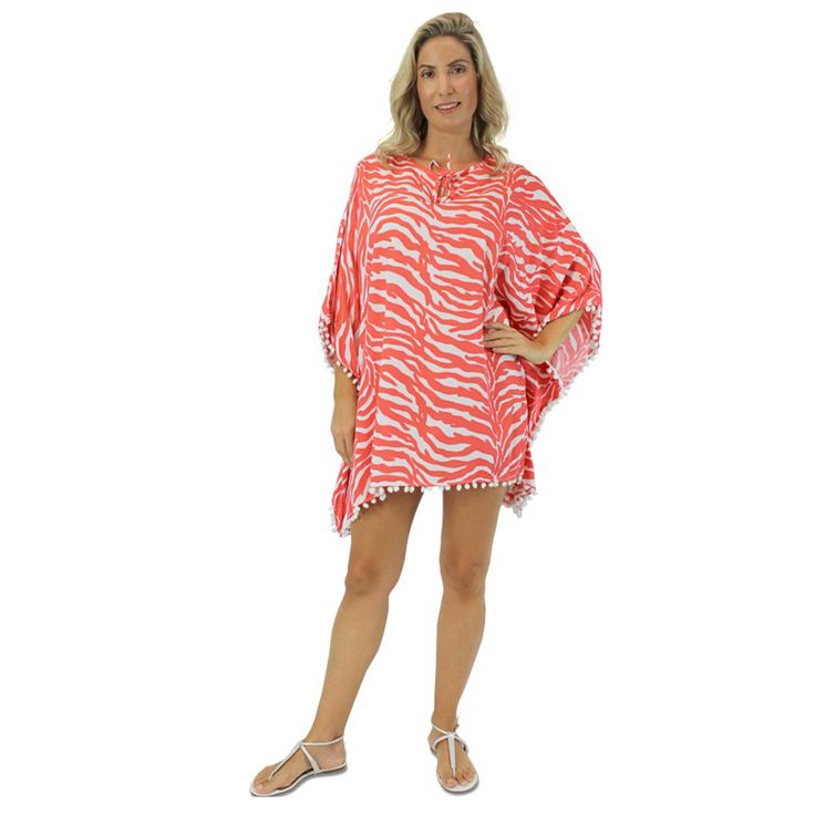 Sundrenched Pom Pom Tunic Zebra: - $30.00 #travelclothes #summerclothes #curvyclothes