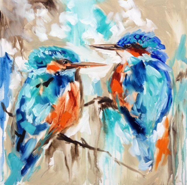 Blue beauties - art print
