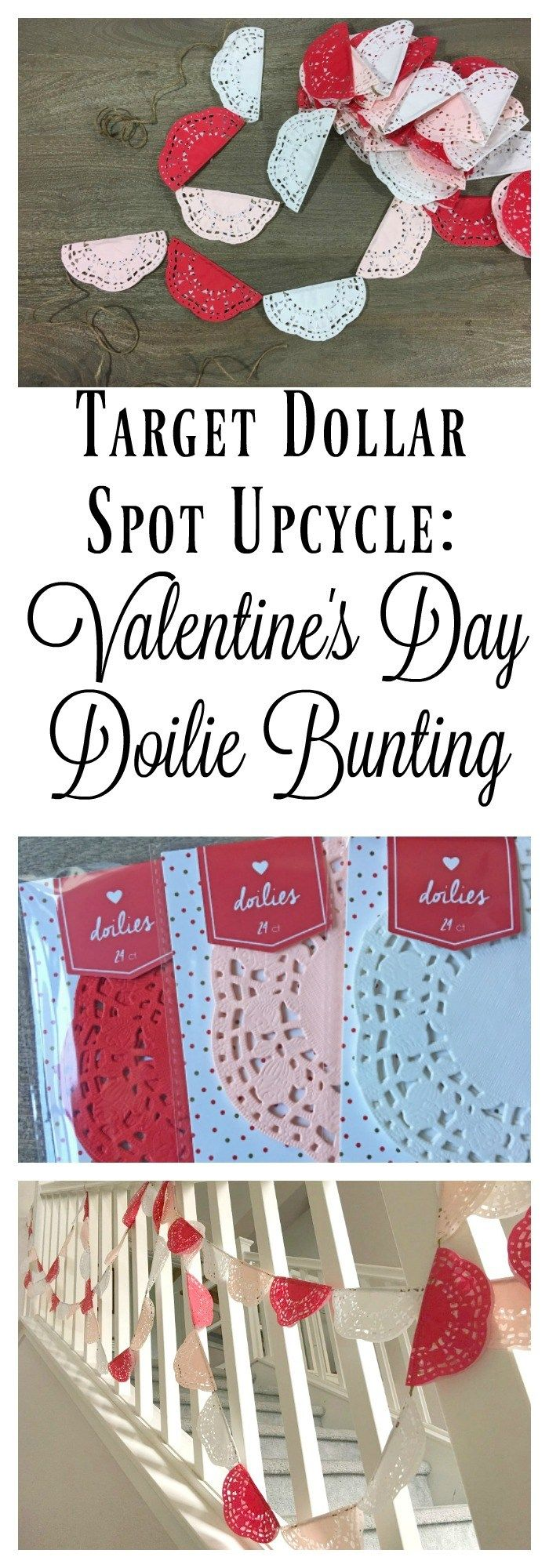 target dollar spot upcycle valentine's day love letter garland jolly and happy