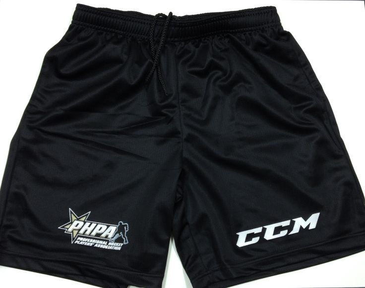 PHPA mesh workout shorts produced by CCM, provided to all PHPA Members during the Fall of 2014.