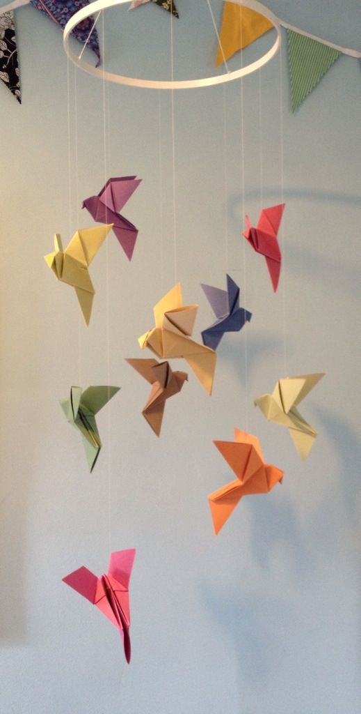 Cheap and Easy Origami Mobile... More