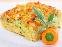 Veganer Polenta-Auflauf mit Gemüsegratin (docbears, vegan)