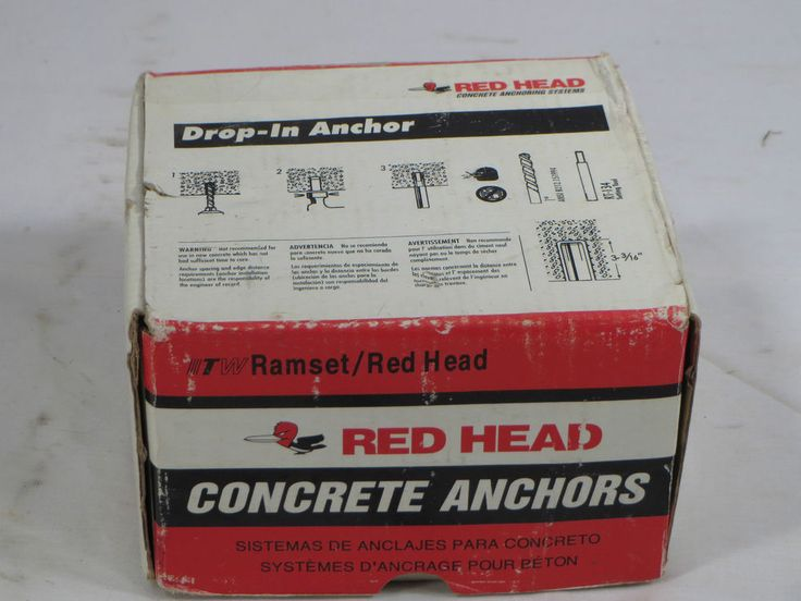 "NIB New Ramset Red Head 3/4"" RL-34 Drop In Concrete Anchors - Full Box 25 Pieces #RamsetRedHead"