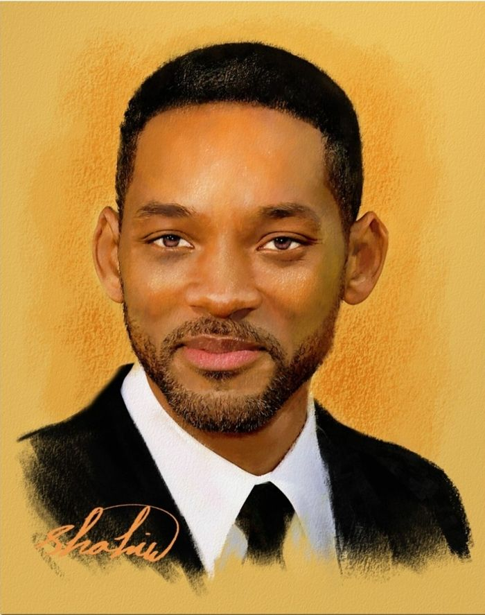 Shahin Gholizadeh | Iranian Digital pastel painter | Will Smith 1968