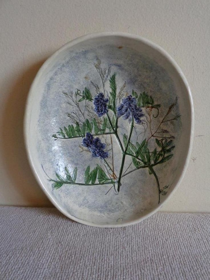 """SALT MARSH POTTERY 5.5"""" x 6"""" Vetch Wall Plaque or Bowl Early Mark"""