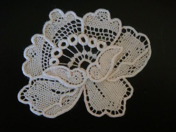 Irish+Crochet+Lace+Free+Patterns | needlelace flower