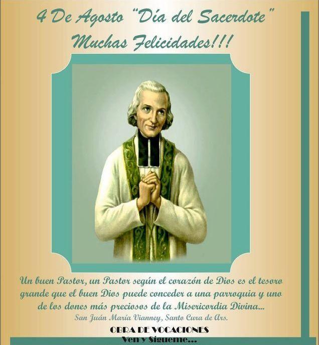 Día del Sacerdote. Priesthood day.