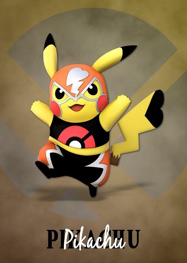 e5cfb013 Super Smash Bros. Ultimate Characters Pokémon Pikachu Wrestler #Displate  artwork by artist