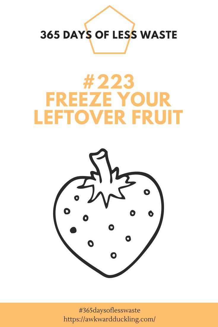 Tip 223 Of The 365 Days Of Less Waste Challenge Freeze Your