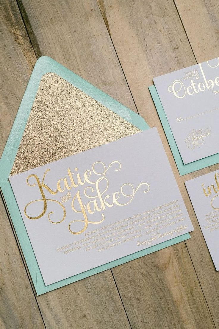 Adorable 27 Gorgeous Glitter Wedding Invitation Ideas https://bitecloth.com/2017/07/18/27-gorgeous-glitter-wedding-invitation-ideas/