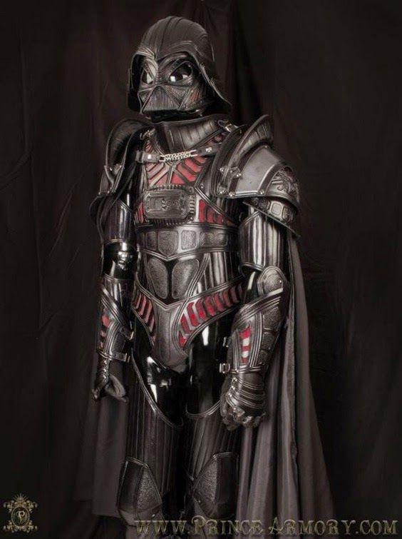 Darth Vader con una  armadura medieval  diseño de Prince Armor