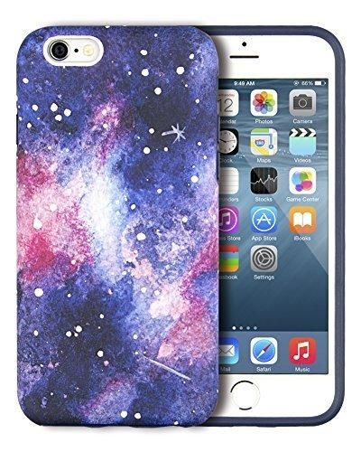 iPhone 6S Case Dimaka Space Universe Milky Way Inked Pattern Case Rugged Hybrid [Drop Proof] Protective Matt Cover for iPhone 6 and 6S 4.7 Inches - Vast Galaxy