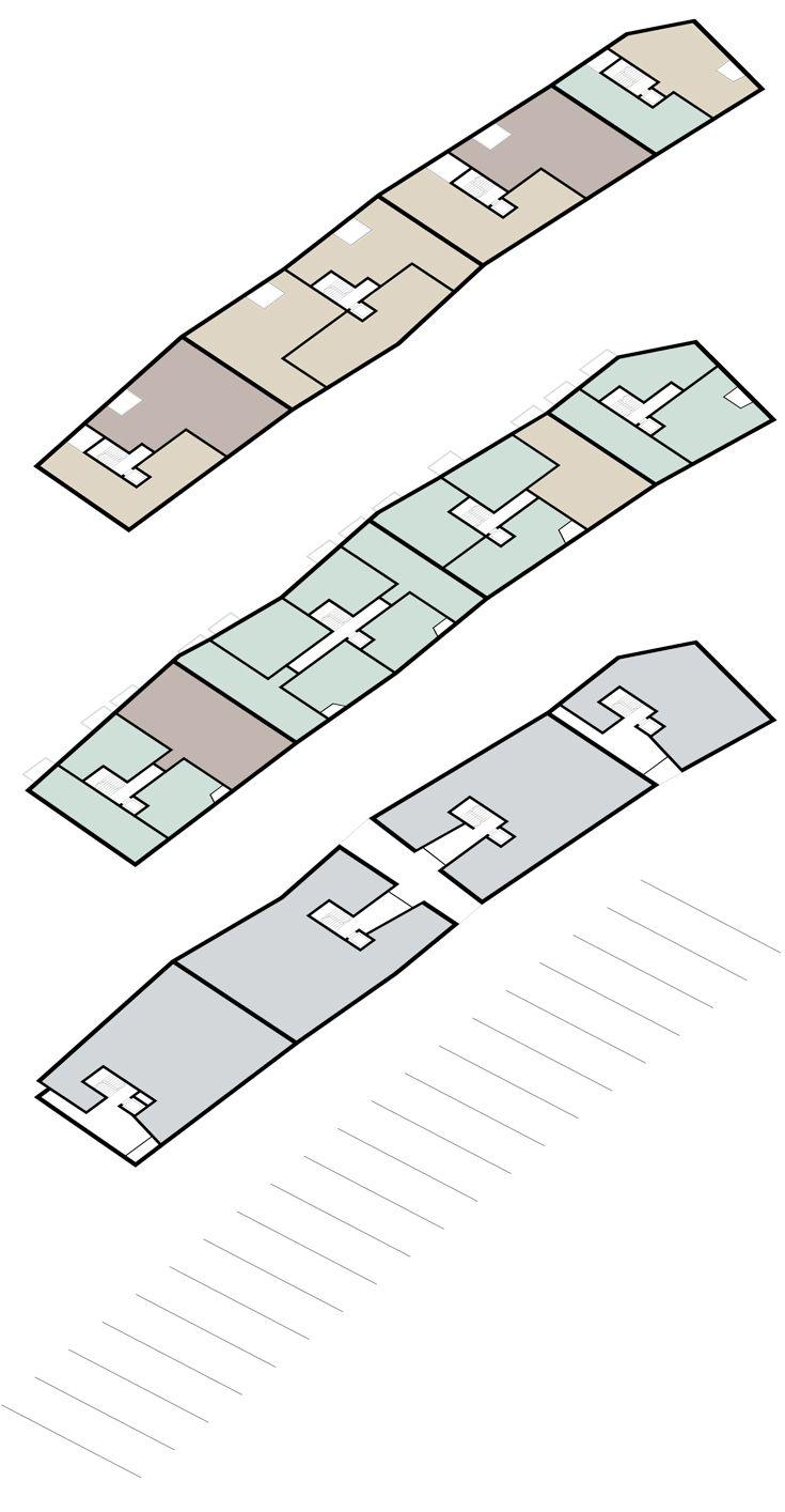 Wohn- und Geschäftsgebäude Frankfurt am Oder  | Michels Architekturbüro  Große Oderstraße Schema Nutzungen Piktogramm
