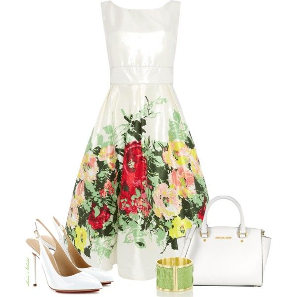 """""""White and flower touch 2"""" by sonies-world on Polyvore"""