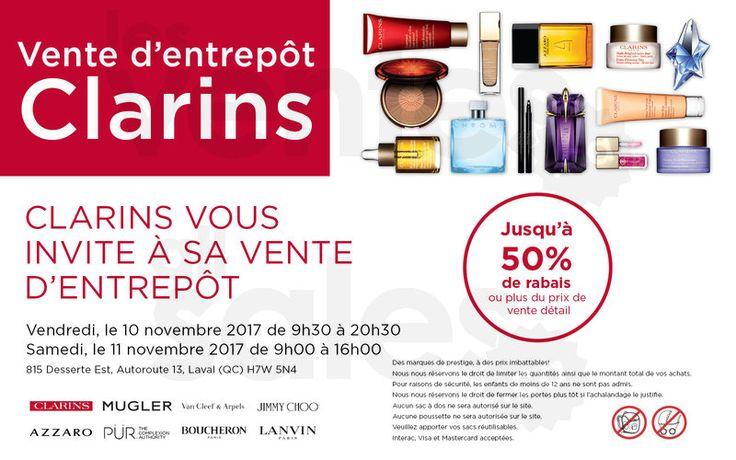 Vente Clarins, parfums et cosmétiques | lesventes.ca