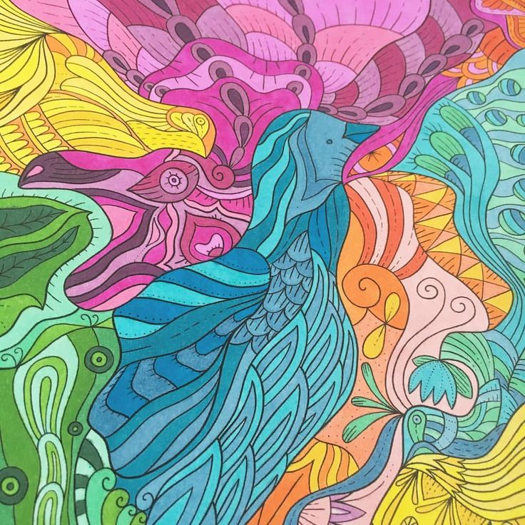 """Mental Images Coloring Books (@paivivesala_art) on Instagram: """"A joy of colors by Sharpies. Coloring book: Mental Images vol 2 (Amazon)"""""""