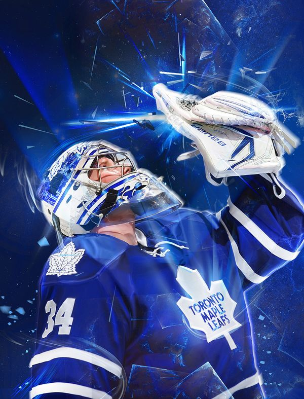 Toronto Maple Leafs - Playoffs #2 by Caroline Blanchet, via Behance