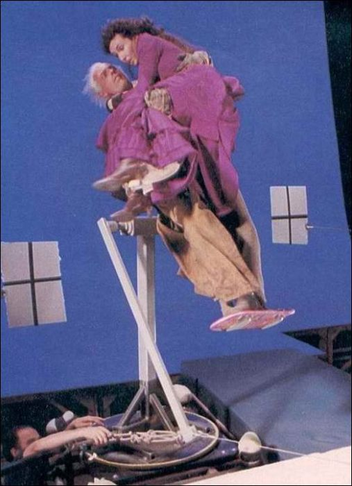 Cool collection of Back to the Future behind the scenes set photos