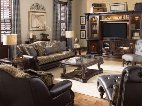 Traditional Living Room Furniture Set   Grand Estates By Fairmont Designs