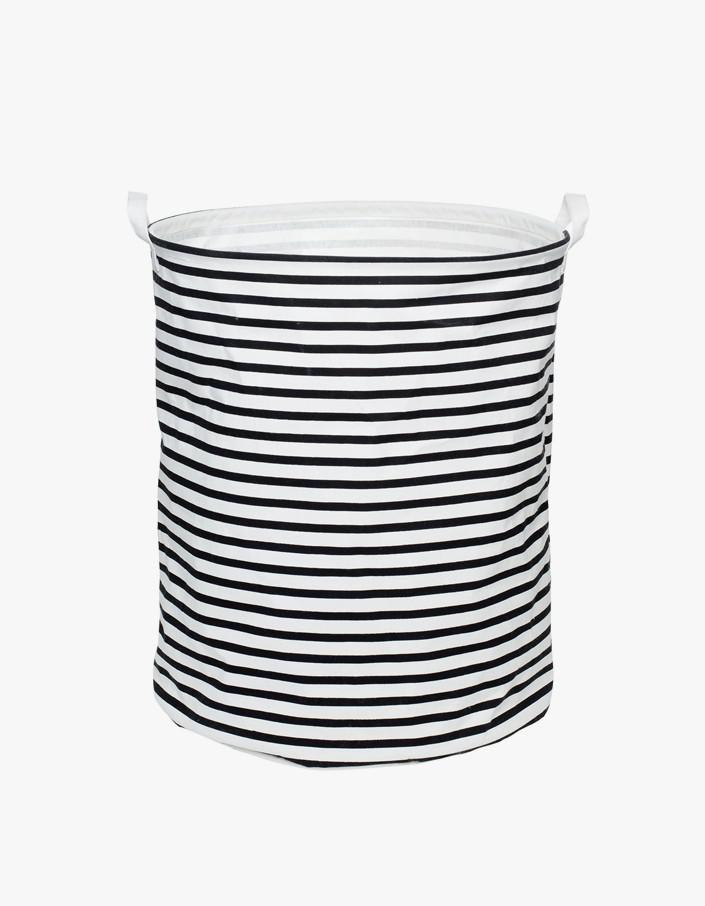 Large Canvas Basket - Stripe