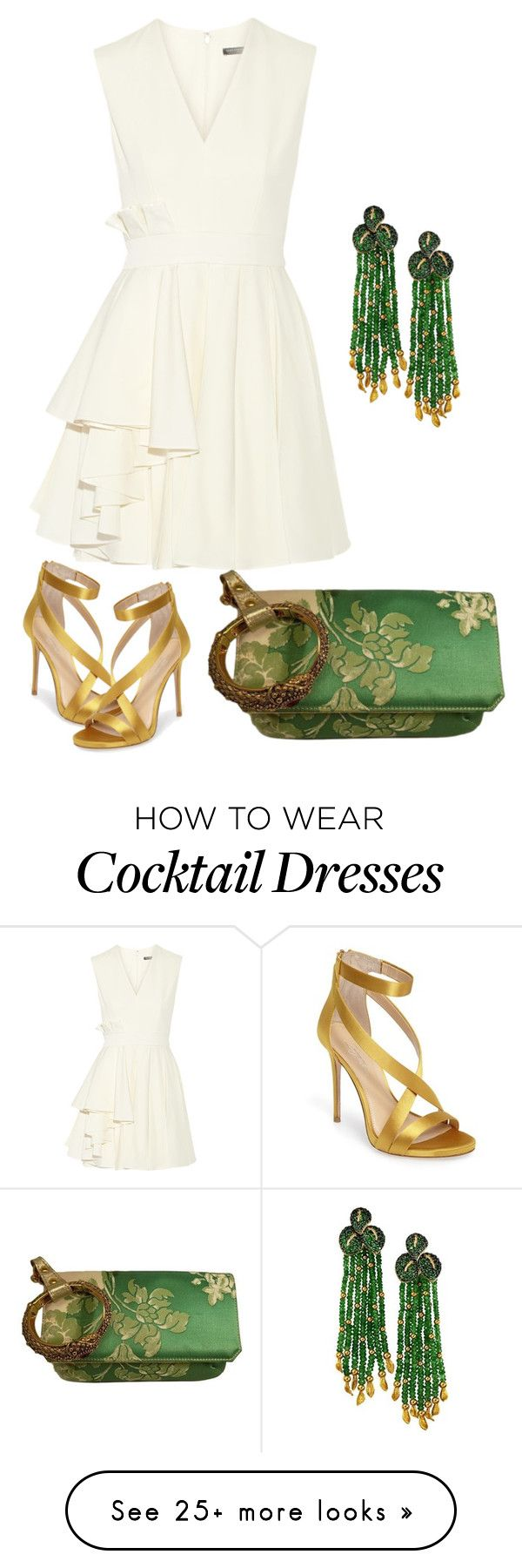 """Cocktail time"" by june-o-brown on Polyvore featuring Alexander McQueen, Roberto Cavalli, Imagine by Vince Camuto and Alex Soldier"