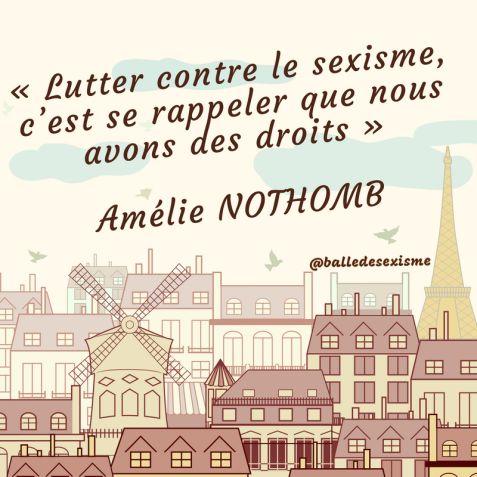 Amélie Nothomb sexisme