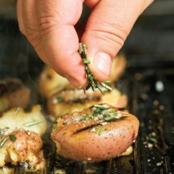 Looking for a new way to serve potatoes? Give these Grilled Smashed Potatoes a try this Easter.