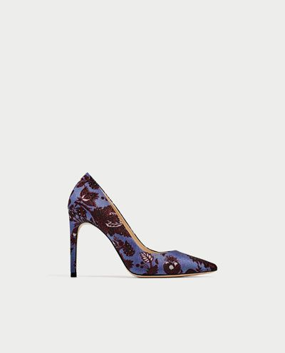 HIGH HEEL JACQUARD COURT SHOES