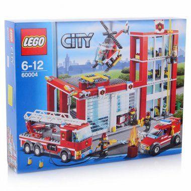 Конструктор LEGO City Пожарная часть, Лего Город, 6-12 лет (60004)