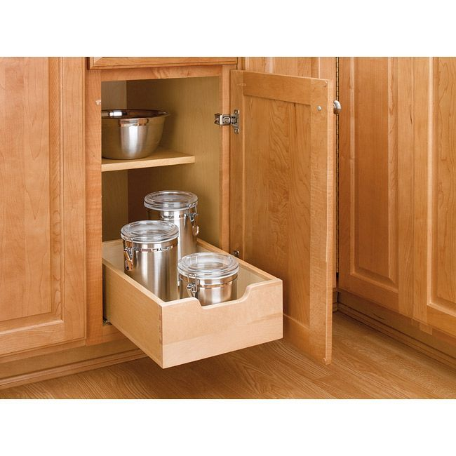 This tan pull-out cabinet drawer is a great place to keep your extra items. The drawer makes it easy to maximize your storage space, and it has an easy four-screw installation that provides a Euro-glide system for smooth movement when you pull it out.